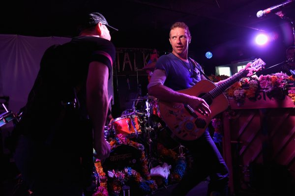 Jonny Buckland (left) and Chris Martin (right) of Coldplay. Photo: Talkhouse